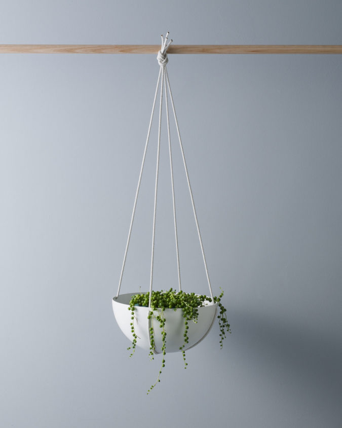 White Hanging Planter Dish